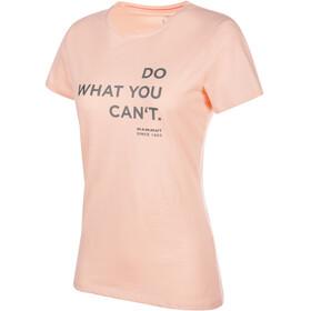 Mammut Seile t-shirt Dames roze